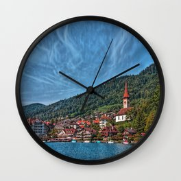 Lakefront Provincial Town Wall Clock