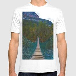 Suspension Bridge along the Berg Lake Trail in British Columbia, Canada T-shirt