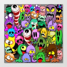 Monsters Doodles Characters Saga Canvas Print