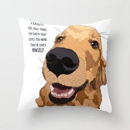 Golden Retriever Love Throw Pillow
