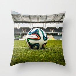 Soccer Ball Field Throw Pillow