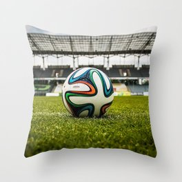 Soccer Ball Field Throw Pillow