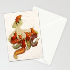 aesop's fable - the fox and his tail Stationery Cards