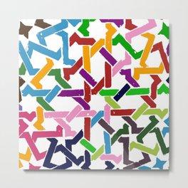 Paths of colors Metal Print