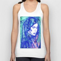 leia Tank Tops featuring Princess Leia by grapeloverarts