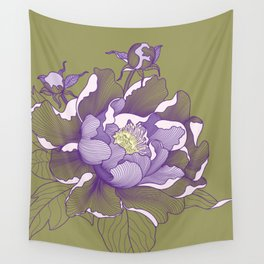Peony flower Wall Tapestry
