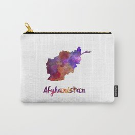 Afghanistan in watercolor Carry-All Pouch