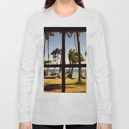 Tropical Fiji Beach Scene Long Sleeve T-shirt