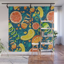 Juicy Citrus Pop Art Wall Mural