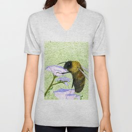 Rusty Patched Bumble Bee Unisex V-Neck