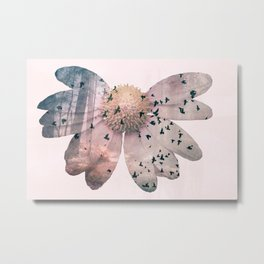 Double exposure flower Metal Print
