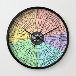 Feeling-Sensation Wheel Wall Clock