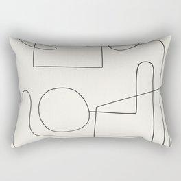 Minimal Abstract Shapes 02 Rectangular Pillow