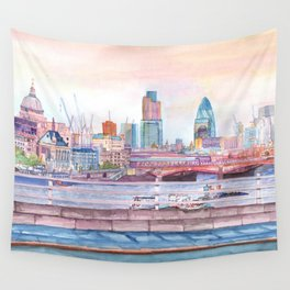 Colorful London Wall Tapestry