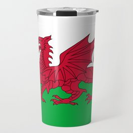 Flag of Wales - Hi Quality Authentic version Travel Mug