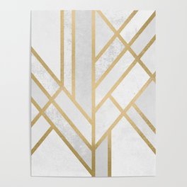Art Deco Geometry 2 Poster
