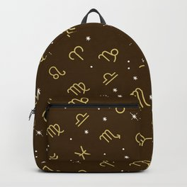 Star Constellation - Star Signs Drawing Brown Backpack