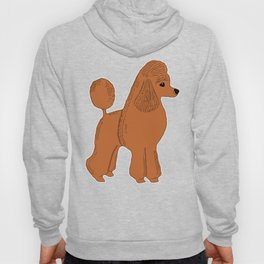 Red Apricot Poodle with Peach Pink & Hearts Hoody