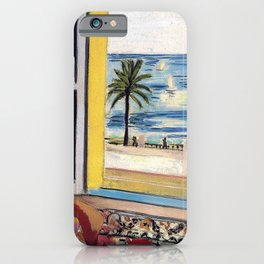 Seated Woman, Back Turned to the Open Window of Ocean & Seaside by Henri Matisse iPhone Case