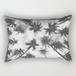blck and white palm trees Rectangular Pillow