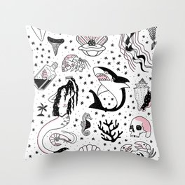 Mermaids Lair Flash Throw Pillow