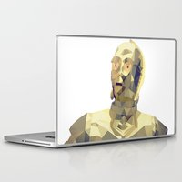 c3po Laptop & iPad Skins featuring C3po Poly Art by Cesar Carlevarino