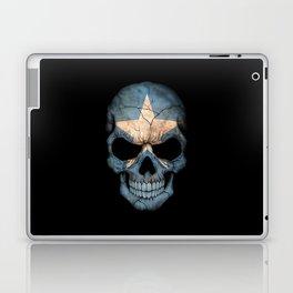 Dark Skull with Flag of Somalia Laptop & iPad Skin