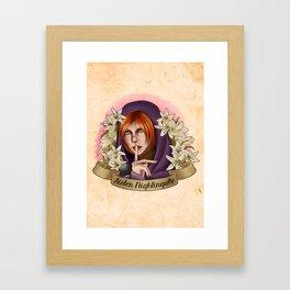 Sister Madona Lily Framed Art Print