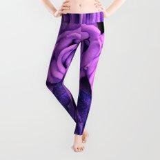 Purple Roses Leggings
