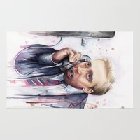nicolas cage Area & Throw Rugs featuring Nicolas Cage by Olechka