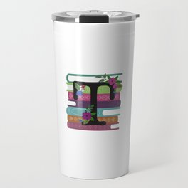 Bookish Monogram Collection T Travel Mug
