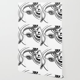 Fashion girl with smoky eyes Wallpaper