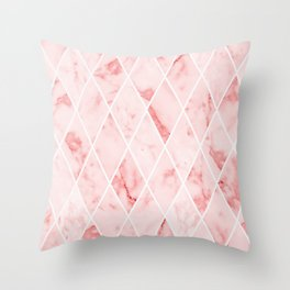 Pink marble #83 Throw Pillow