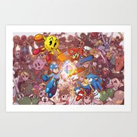 smash bros Art Prints featuring SMASH! by Robaato