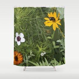 Wild Flowebed 6 Shower Curtain