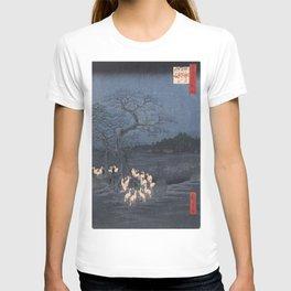 Utagawa Hiroshige - New Year's Eve Foxfires at the Changing Tree T-shirt
