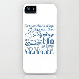 Cycling Grandpa iPhone Case