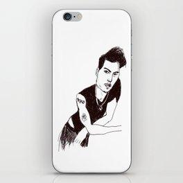 Biro portrait of the actor Johnny Depp iPhone Skin