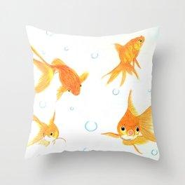 Goldfish! Throw Pillow