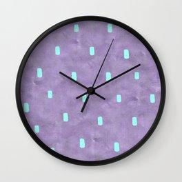 Purple Cute Simple Turquoise Pattern Wall Clock