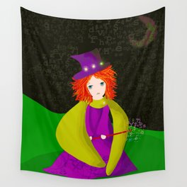 The Sad Little Witch Wall Tapestry