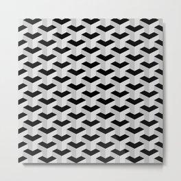 Black & Grey Geometric Pattern Metal Print
