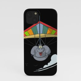 Hang Glider Hippo iPhone Case