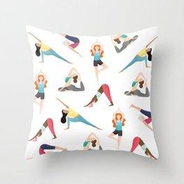 Yoga Pattern Throw Pillow