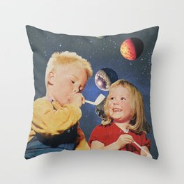 Bubles Throw Pillow