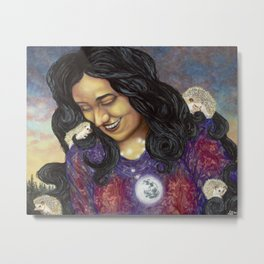 The Poetess Metal Print