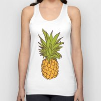 pineapples Tank Tops featuring Pineapples by Stephanie Keir