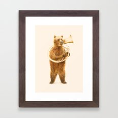The Bear and his Helicon Framed Art Print