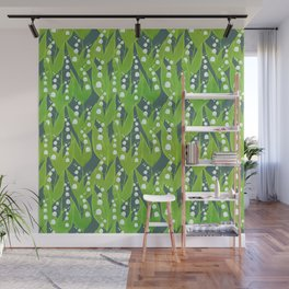 Lily of the Valley Pattern Wall Mural