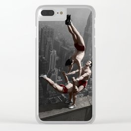 Colourised: Empire State Acrobats Clear iPhone Case